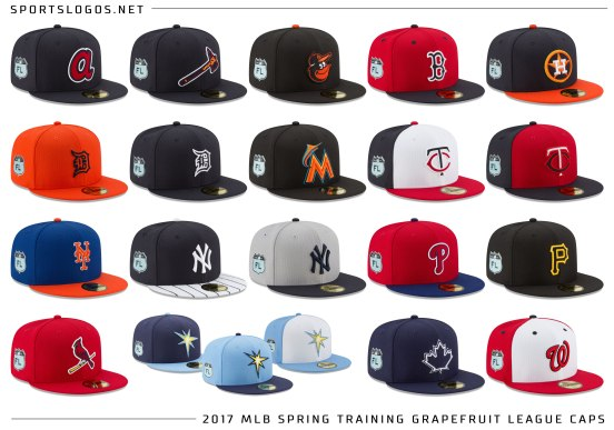 2017-mlb-spring-training-caps-grapefruit-league